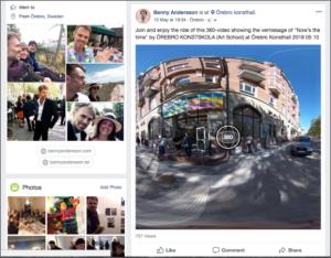 360 video på Facebook Konsthall