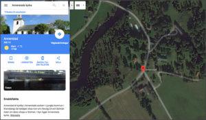 GoogleMaps StreetView Svenska Kyrkor